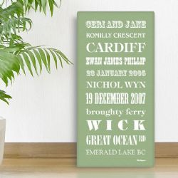 Personalised Favourites & Memories Canvas (Regular)
